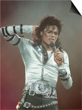 Michael Jackson Performing on Stage at Wembley During the Bad Concert Tour, July 14, 1997 - Reprodüksiyon