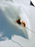 Dave Richards Skiing in Deep Powder Snow Posters by Lee Cohen