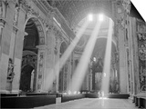 Sunbeams Inside St. Peter's Basilica Art by Owen Franken
