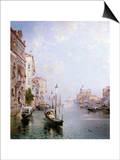 The Grand Canal, Venice Print by Franz Richard Unterberger