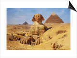 Excavation of the Sphinx Print by Ernst Koerner