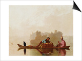 Fur Traders Descending the Missouri Prints by George Caleb Bingham