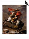 Napoleon on Horseback at the St. Bernard Pass Prints by Jacques-Louis David