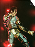 Michael Jackson Performing on Stage in Sheffield, July 10, 1997 Posters