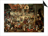 The Battle Between Carnival and Lent Prints by Pieter Bruegel the Elder