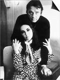 Richard Burton with Elizabeth Taylor, August 1984 Posters