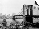 Brooklyn Bridge Over East River and Surrounding Area Prints