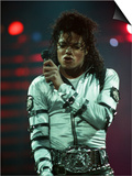 Michael Jackson Performing on Stage at Wembley During the Bad Concert Tour, July 14, 1997 Poster