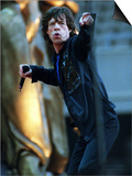 Mick Jagger of the Rolling Stones Sings on Stage June 1999 at Murrayfield Stadium in Edinburgh Posters
