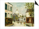 Le Sacre-Coeur a Montmartre Poster by Maurice Utrillo