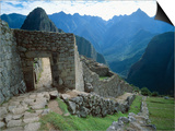 Archaeological Ruins on Machu Picchu Hillside Art by Jim Zuckerman