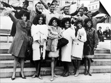 Diana Ross and the Supremes with Pop Groups from the Motown Company of Chicago, 1965 Prints