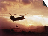 Chinook Helicopter Lifts Ammunition Prints