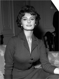 Actress Sophia Loren in London, October 1957 Prints