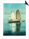 Afternoon, from a Set of Six Prints of Sailing Boats Prints by Hiroshi Yoshida