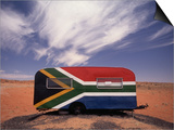 Food Trailer Painted with South African Flag Motif Posters by Charles O'Rear