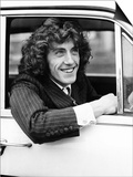 The Who Pop Group Member Roger Daltrey Sitting in Car Poster
