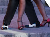 Tango Dancers' Feet, San Miguel De Allende, Mexico Print by Nancy Rotenberg