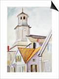 Clocher de l'église et toits Posters par Edward Hopper