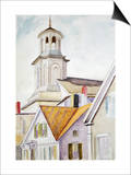 Church Steeple and Rooftops Posters by Edward Hopper