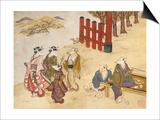Kitsune No Yomeiri - the Fox's Wedding Series Print Prints by Tachibana Minko