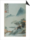 View of a Misty Riverbank from an Album of Twelve Landscape Paintings Posters by Tao Chi