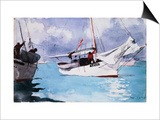 Fishing Boats, Key West Art by Winslow Homer