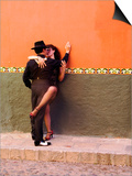 Tango Dancers in Streets of San Miguel De Allende, Mexico Prints by Nancy Rotenberg