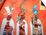 Murals in Mayan Temple, Bonampak, Museum of Mexican History, Monterrey, Nuevo Leon, Chiapas, Mexico Art by Russell Gordon