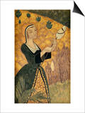 Young Girl with Oak Leaves Prints by Paul Serusier