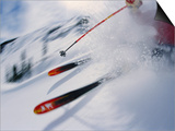 Skier Performing Sharp Turn Prints by Doug Berry