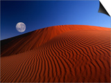 Full Moon over Red Dunes Prints by Charles O'Rear