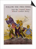 Follow the Pied Piper United States School Garden Poster Poster