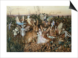A Rabbit Among the Fairies Prints by John Anster Fitzgerald
