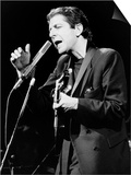 Leonard Cohen Canadian Singer Songwriter on Stage 1985 Print