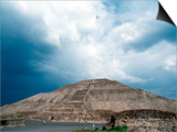 Great Pyramid of the Sun at Teotihuacan Aztec Ruins, Mexico Prints by Russell Gordon