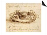 Drawing of Tank-Like Vehicle Prints by  Leonardo da Vinci