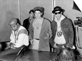 Beastie Boys American Pop Group Rap 1987, at Press Conference in Britain Plakater