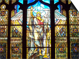 Angel of the Resurrection Stained Glass Window Art by Louis Comfort Tiffany