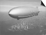 Dirigible Macon over New York City Posters