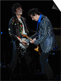 Keith Richards and Ronnie Wood of the Rolling Stones on Stage at the 2007 Isle of Wight Festival Posters
