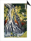 Kirifuri Waterfall, Mount Kurokami, Shimotsuke Province, from the Series A Journey to the Waterfall Print by Katsushika Hokusai