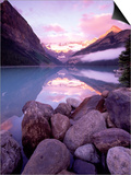 Morning Sky Reflecting In Lake Louise Posters by Gavriel Jecan