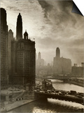 View of Chicago Sky and Skyscrapers Prints