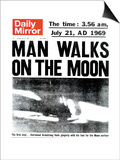 Man Walks on the Moon Prints
