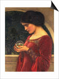 The Crystal Ball Art by John William Waterhouse
