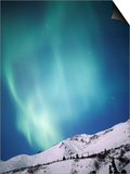 Aurora Borealis, Chugach State Park, Anchorage, Alaska Posters