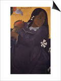 Woman With a Mango Posters by Paul Gauguin