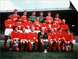 Manchester United 1968 Football Team with European Cup Prints