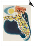 Florida the Sunshine State Prints by Leo Rackow